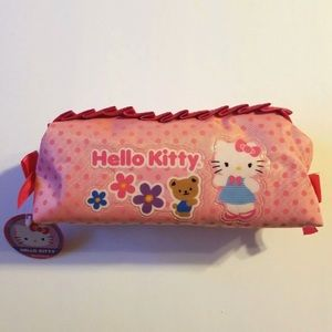 HELLO KITTY PINK ZIPPER ACESSORY POUCH